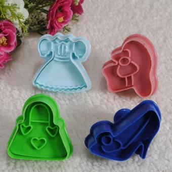 Fondant Cake Cookie Pastry Plunger Cutter Sugarcraft Mold Wedding Party XMAS - intl