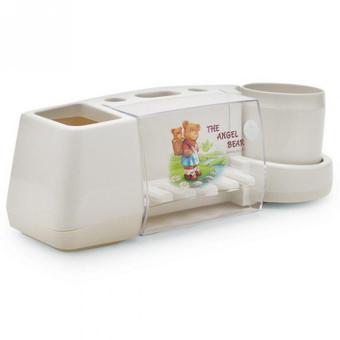 Giá để bàn chải kem đánh răng tiện dụng (Trắng)