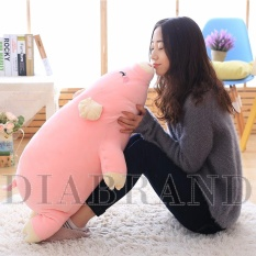 Gối ôm heo bông Nhật màu hồng dài 85cm-OHNPNG85(nhà bán hàng Diabrand)