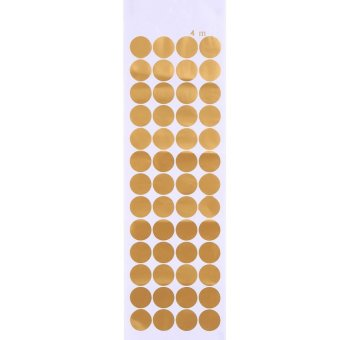 Gold Polka Dots Circles Wall Decal Vinyl Sticker Pattern (4cm x 52pcs) - intl