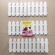 Nơi Bán Hàng rào nhựa lắp ghép cao 20cm dài 1,62m trang trí cây thông M&N Toys