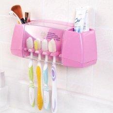 HAOFEI MultiFunctional Toothpaste And Toothbrush HolderBathroomtoiletries Shelves Creative Sticky - intl
