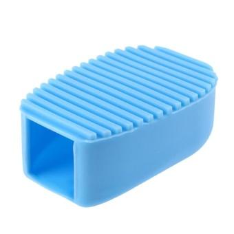 HappyLife Hand-Held Mini Washboard Antiskid Cleaning Washing Flexible Scrubbrush(Blue) - intl