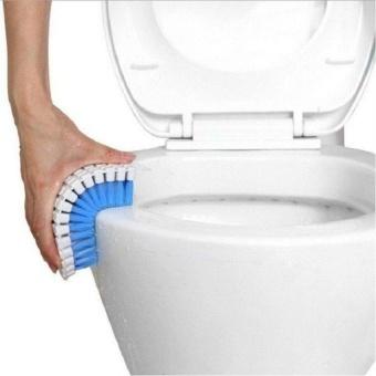 HappyLife Kichen Toilet Floor Magic Window Cleaner Novelty Householdsbendable Cleaning Brush Flexible Fur Clean Tap Corner Bath Brush - intl