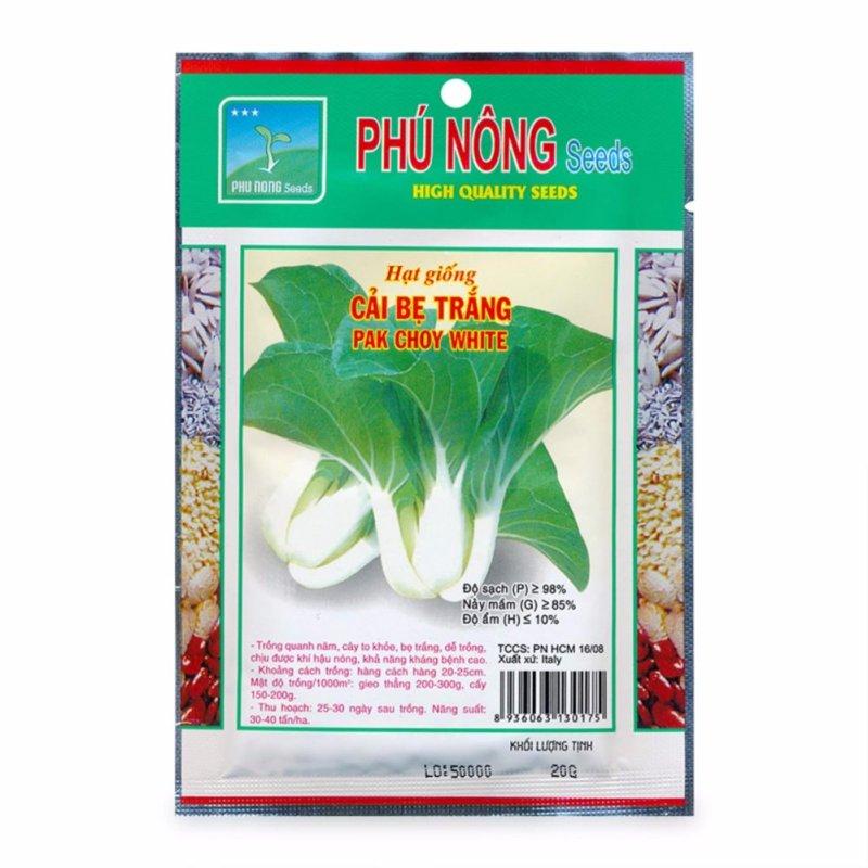 Hạt giống cải bẹ trắng Phú Nông 20g