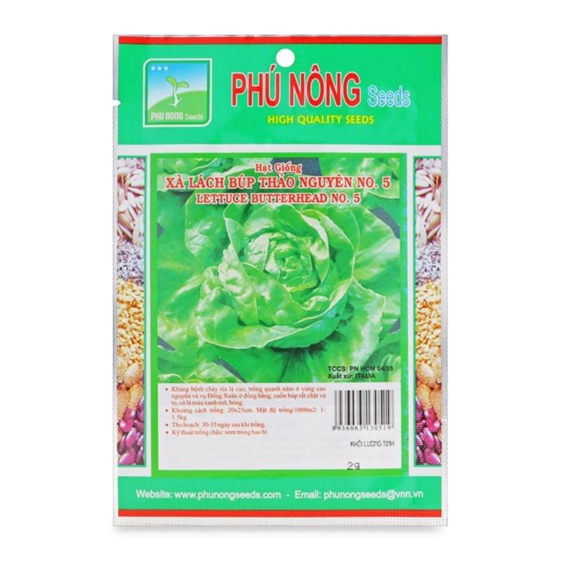 Hạt giống xà lách búp thảo nguyên No5 - 2g