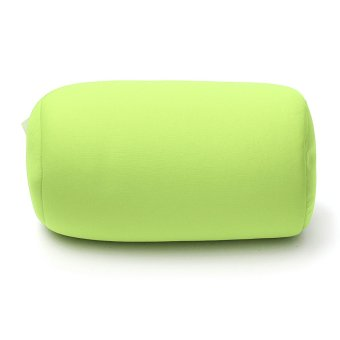 Home Car Seat Head Rest Neck Support Mini Microbead Cushion RollPillow 30x16cm Green - intl