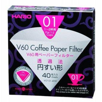 Hộp 40 giấy lọc cà phê Hario VCF-01-40W