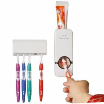 Hộp đựng bàn chải và nhả kem đánh răng tự động Touch me (BQ14)