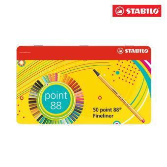 Hộp thiếc bút lông kim STABILO Point 88 (loại 50 màu)PT8850M
