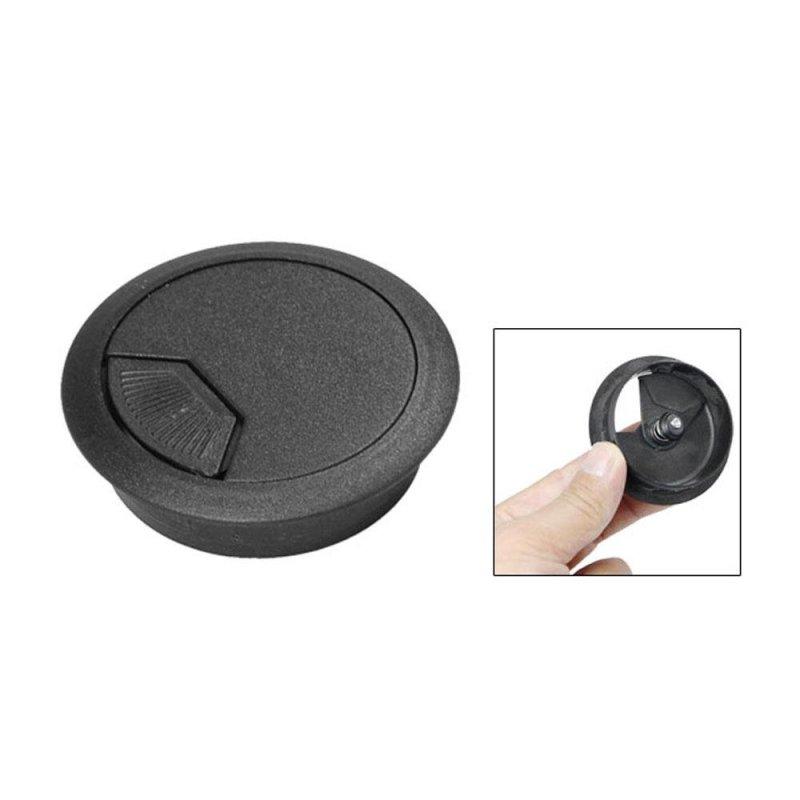 Bảng giá Mua jinma PC Desk Flip Top Plastic Grommet Cable Hole Cover (Black,5cm) - intl
