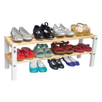 Kệ giày trẻ em 2 tầng chân màu trắng Gỗ Đức Thành 48372K ...