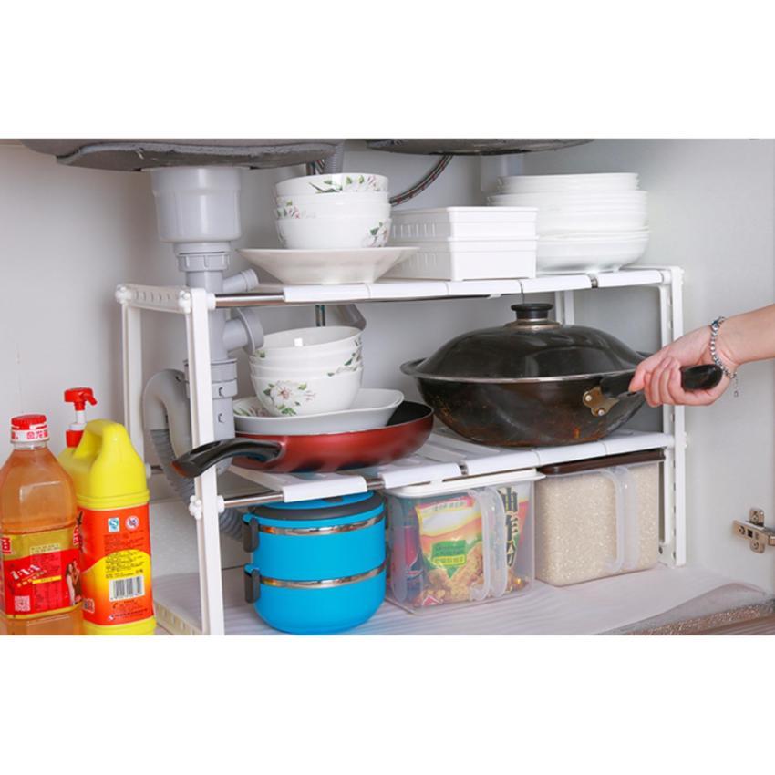 Hình ảnh Kệ nhà bếp 2 tầng đa năng đặt dưới bồn rửa chén - kệ gầm nhà bếp