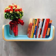 Địa Chỉ Bán Kệ Sách treo tường uốn cong Plyconcept Book Shelf – Mint Blue Laminate