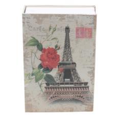 Két sắt mini giả sách khóa số - Tháp Eiffel Paris