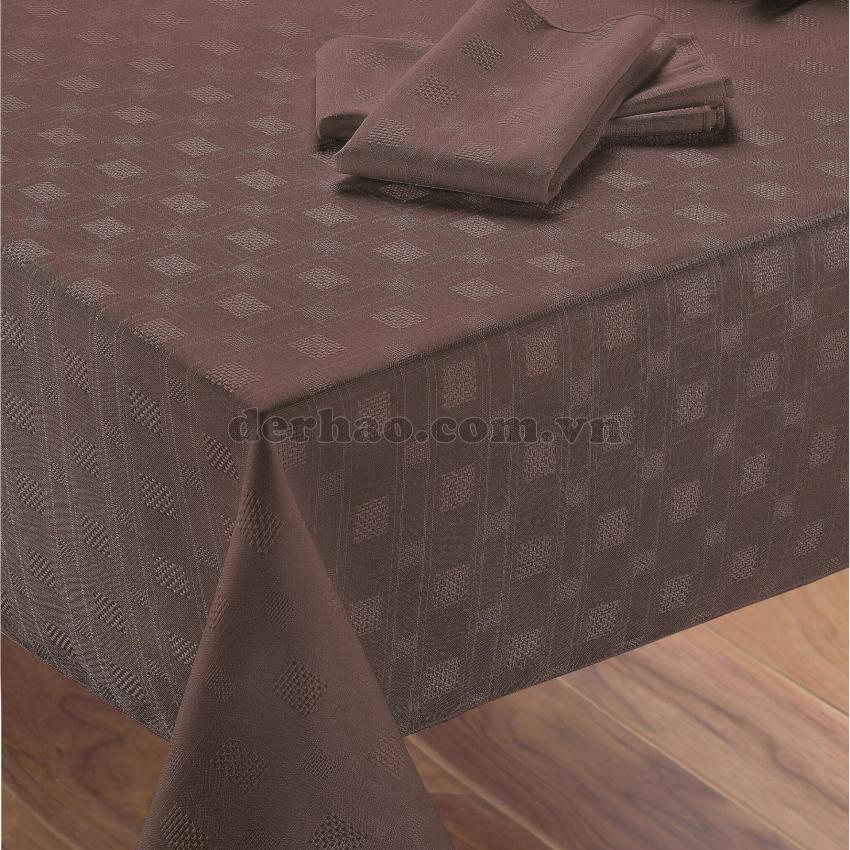 Hình ảnh Khăn trải bàn Dulem 178x230 cm (Chocolate)