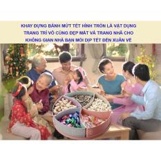 Khay Banh Keo Ngay Tet, Khay Đựng Mứt Tết, Bánh Kẹo Lúa Mạch Hình Hộp Quà Tròn, Nơi Bán Khay Đựng Mứt Giá Rẻ, Uy Tín, Chất Lượng Nhất Mẫu 274