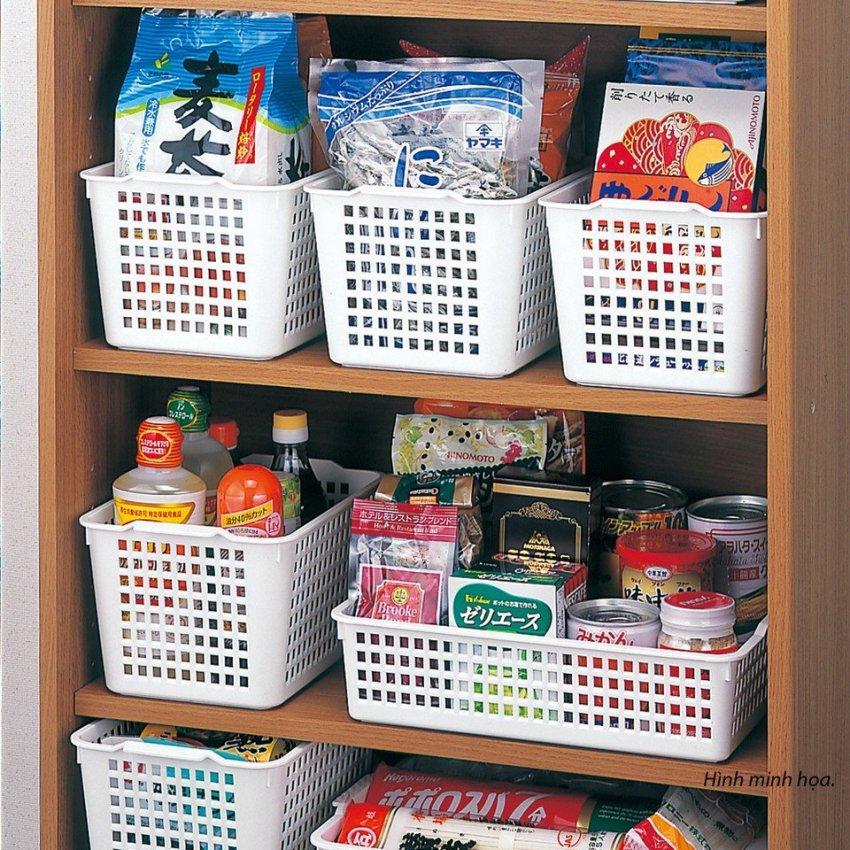 Hình ảnh Khay đựng vật dụng nhà bếp 4518 (31 × 22 × 9.3cm) Trắng