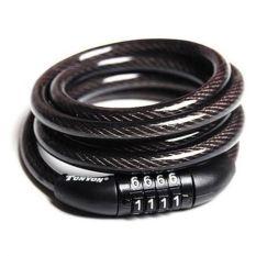 Khóa dây cáp 4 số cố định 8x1200mm Tonyon TY532 (Đen)