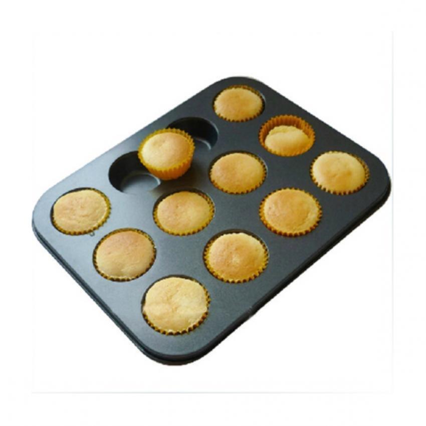 Khuôn cupcake 12 ô mini HT3745