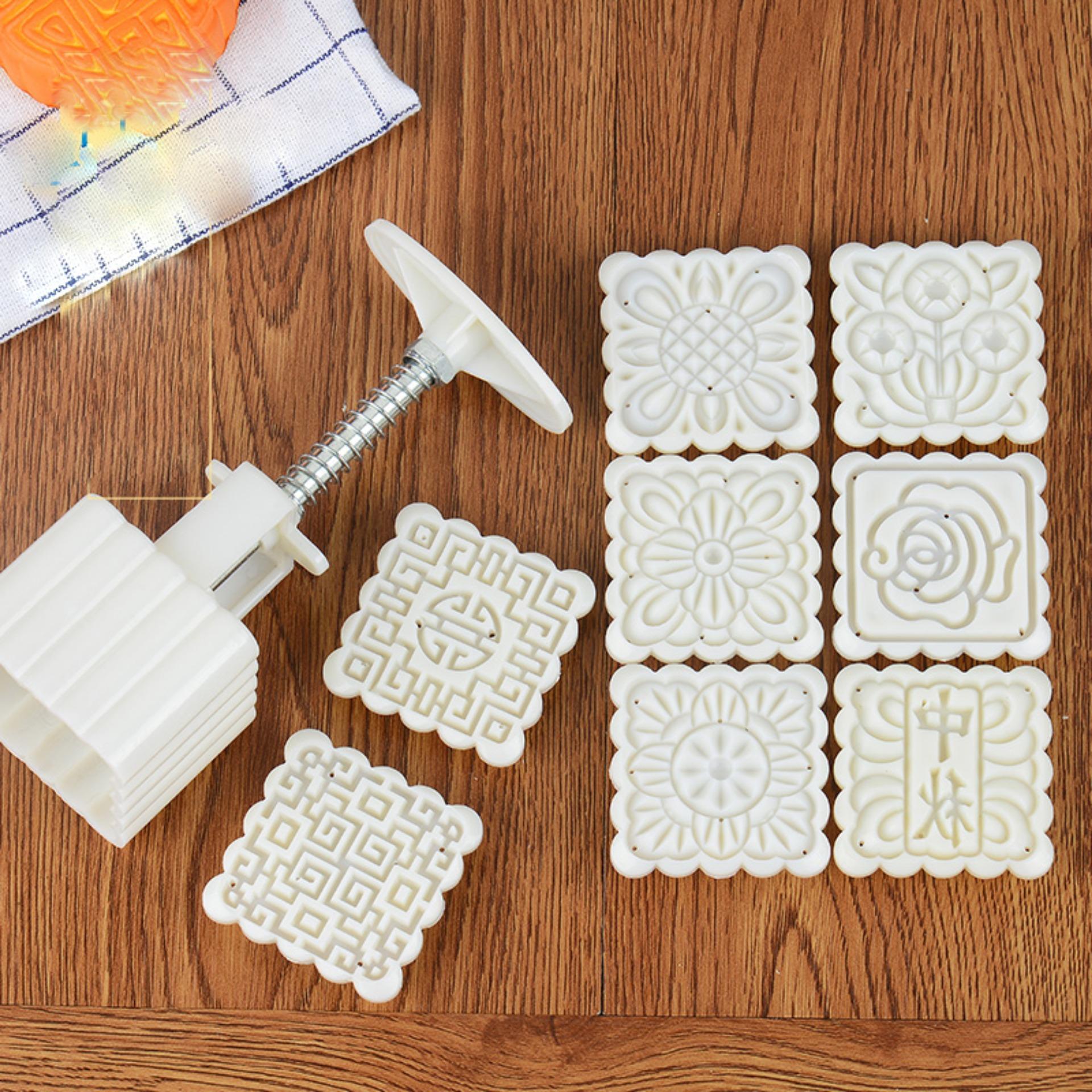 Khuôn làm bánh ngọt / bánh trung thu hình vuông 6 khuôn