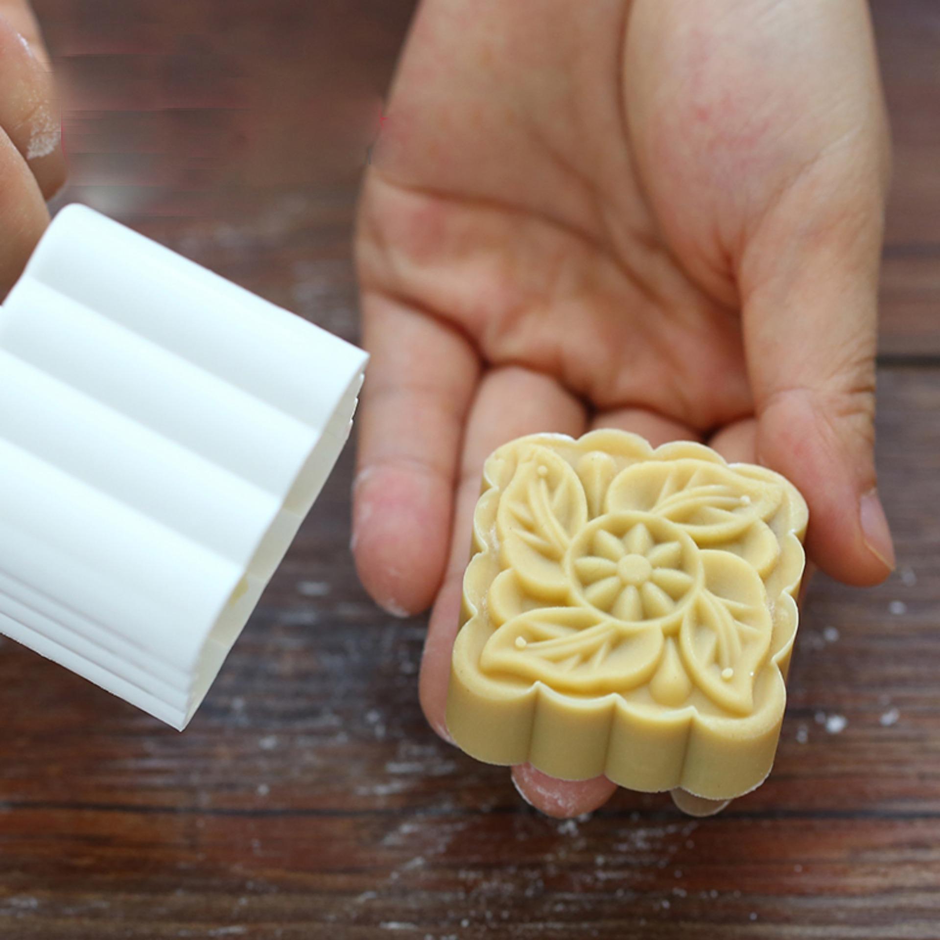 Khuôn làm bánh trung thu / bánh ngọt hình vuông 6 khuôn