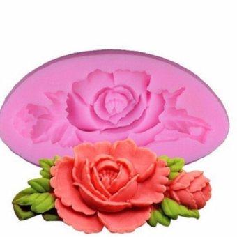 Khuôn silicon 4D hình hoa hồng (KT:7,5 x 4 x 1.3)