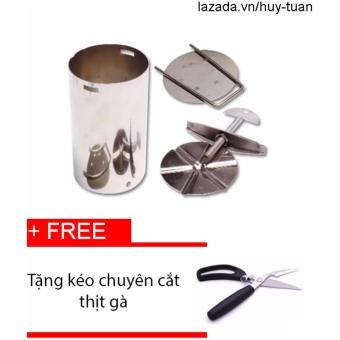 Khuông Làm Giò Loại 1Kg + Free Kéo Chuyên Cắt Gà(Bạc)