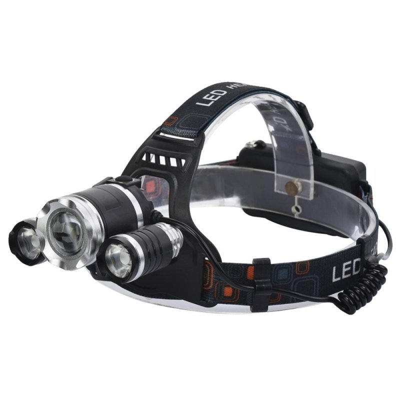 Bảng giá Mua LED 2000LM Rechargeable Headlamp 4 Light Modes Focus Zoomable Adjustable Weather-proof Flashlight Torch Headlight - intl