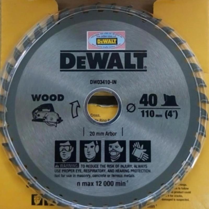 Lưỡi cưa gỗ 110mm/40 răng - Dewalt DW03410