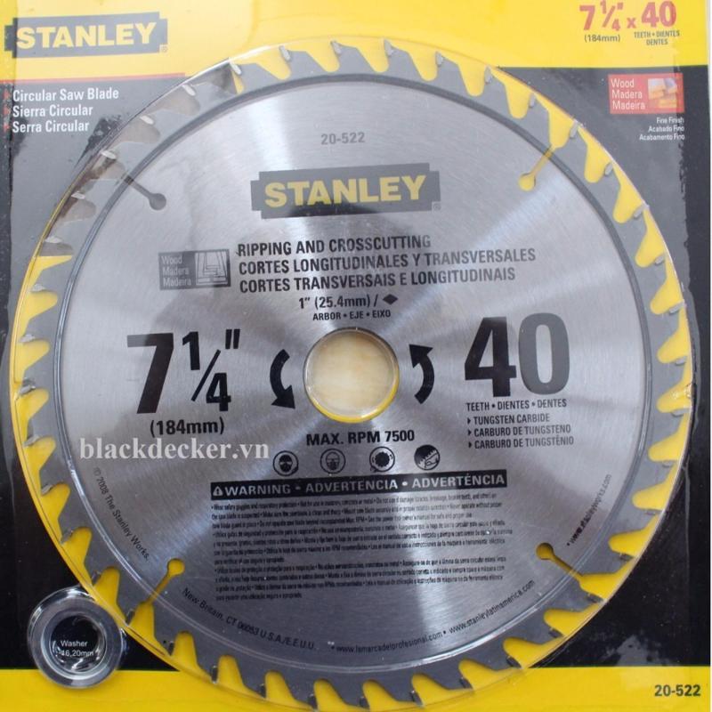 Lưỡi cưa gỗ, cắt nhôm 184mm*40T Stanley 20-522