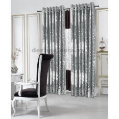 Giá Sốc Màn cửa đơn khoen Miss Curtain 135x160cm (521-Grey)  MISS_CURTAIN