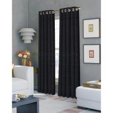 Nơi Bán Màn cửa đơn khoen MISS CURTAIN 135x160cm (AN605 – Porto Nero)  MISS_CURTAIN