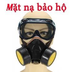 Mặt nạ phòng độc 2 phin than hoạt tính  cao cấp + kính  bảo hộ