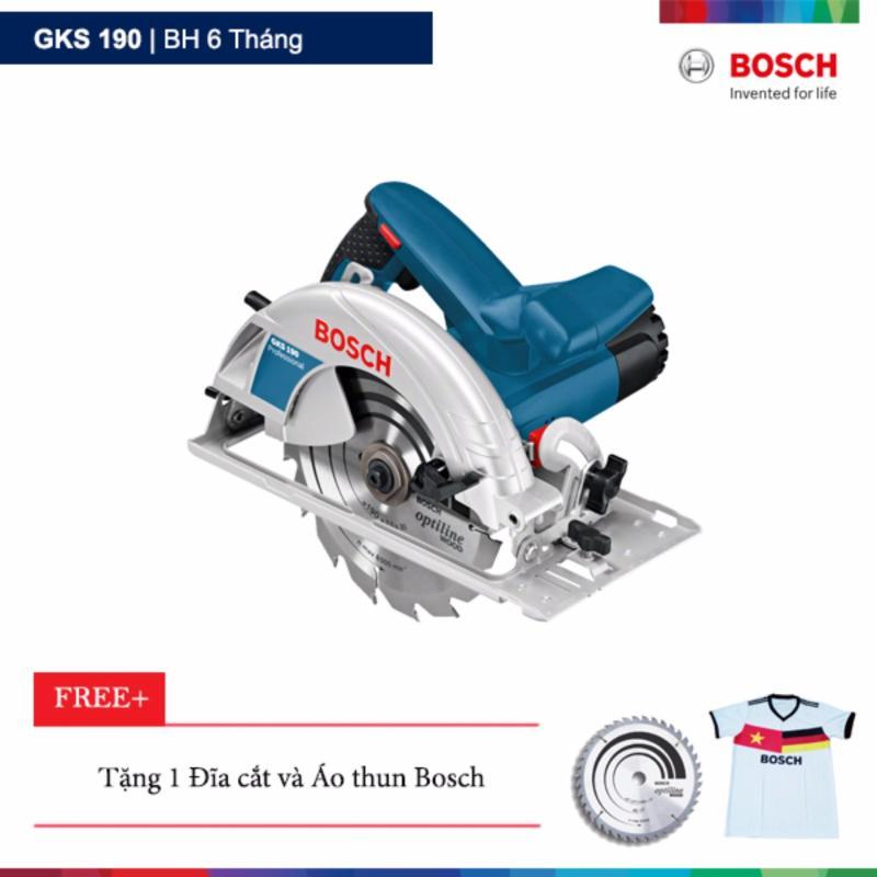 Máy cưa gỗ Bosch GKS 190 Tặng 1 lưỡi cưa + 1 áo thun Bosch