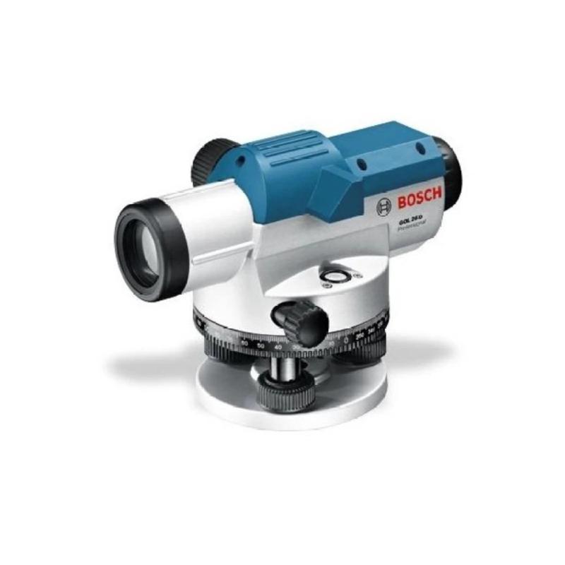 Máy đo khoảng cách quang học Bosch GOL26D (Xanh) +Chân máy + Cây mia