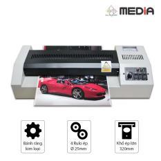 Máy Ép Màn Nhựa Plastic Media MD320 Khổ A3 - Rulo Ép Lớn 25mm 600W