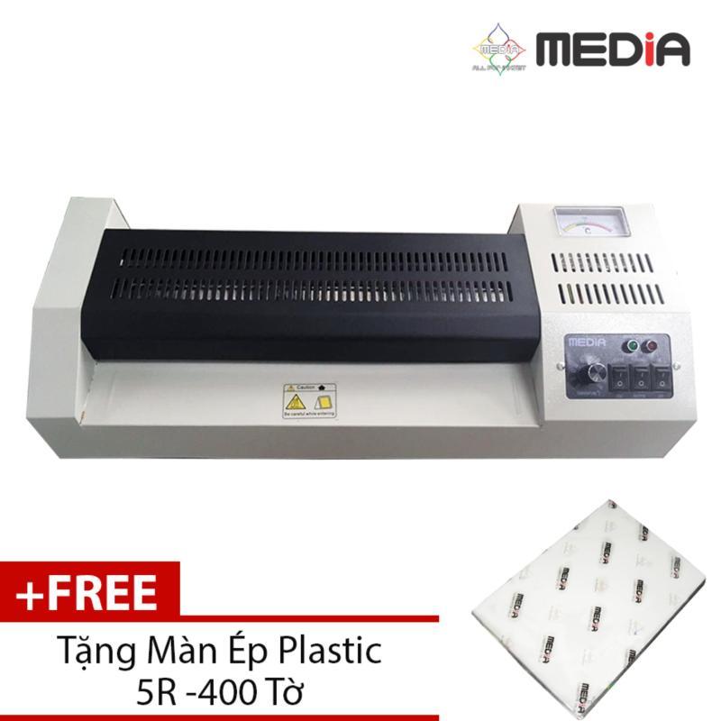 Máy Ép Plastic Media MD320 Khổ A3 + Màn Ép Plastic 5R 400 Tờ - Hàng Nhập Khẩu