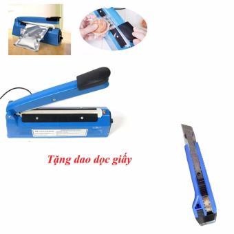 MÁy hàn miệng túi dập tay Impulse Sealer PFS-200 20cm tặng dao dọc giấy 16cm