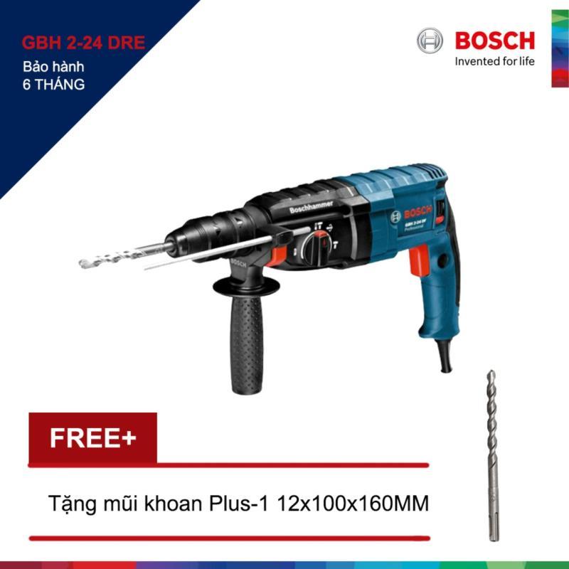 Máy khoan Bosch GBH 2-24 DRE + Tặng 1 Mũi khoan bê tông Plus-1 12x100/160MM