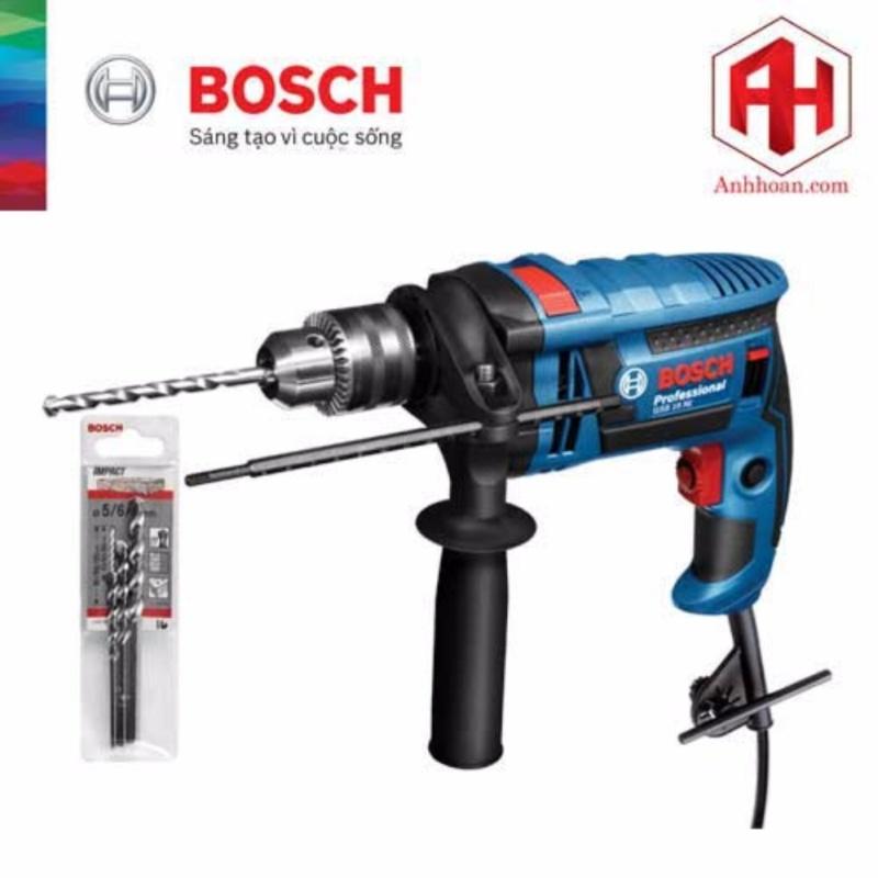 Máy Khoan Bosch GSB 16 RE tặng kèm 3 mũi khoan tường (5x85, 6x100, 8x120)