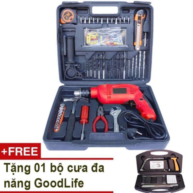 Máy khoan cầm tay DIY 112 món + Tặng bộ cưa đa năng GoodLife
