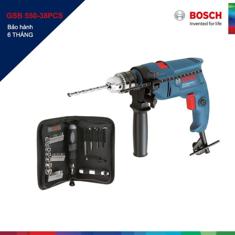 Máy khoan động lực Bosch GSB 550 và bộ dụng cụ 38 chi tiết