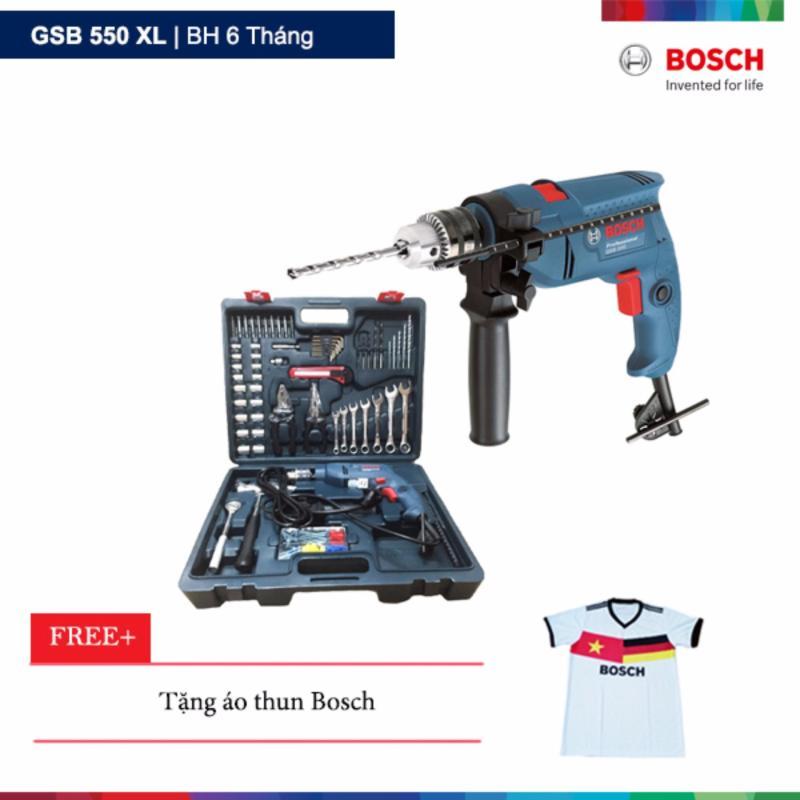 Máy khoan động lực Bosch GSB 550 XL Tặng áo thun Bosch