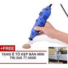 Máy khoan, mài, khắc mini đa năng Zento JS10B-1 (tặng ê tô mini)