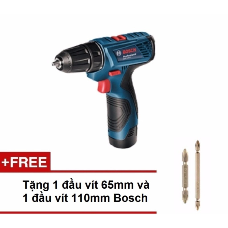 Máy khoan vặn vít dùng pin Bosch GSR 120-LI Professional (Xanh) +Tặng 1 đầu vít ngắn và đầu vít dài