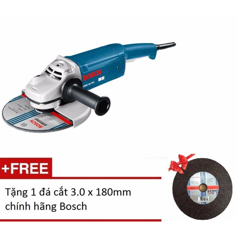Máy mài góc Bosch GWS 22-180 Professional (Xanh) + Tặng 1 đá cắt chính hãng Bosch