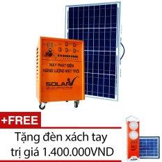 Máy phát điện năng lượng mặt trời SolarV SV-COMBO-100 + Tặng 1 đèn xách