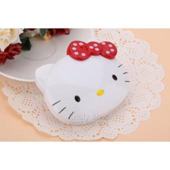Máy tính gập để bàn đầu mèo Hello Kitty nơ Đỏ bi trắng dành cho học sinh và các bé (11x2x10) - 150KT996650-4