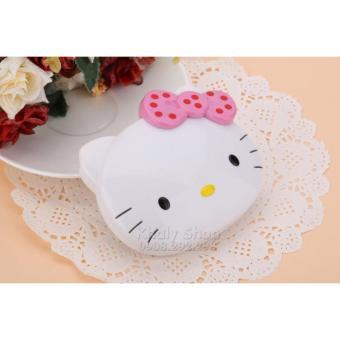 Máy tính gập để bàn đầu mèo Hello Kitty nơ Hồng bi đỏ dành cho học sinh và các bé (11x2x10) - 150KT996650-3